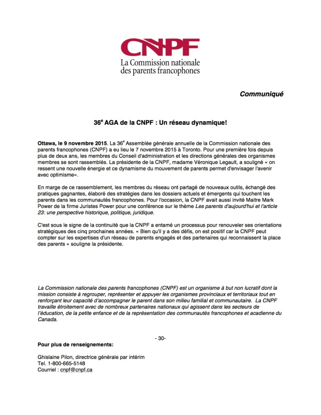 communiqué CNPF - 36e AGA 9 nov 2015[2]
